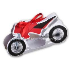 Boîte dragées moto