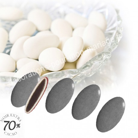 Dragées chocolat grises