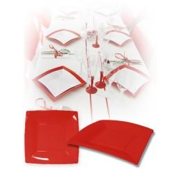 Assiette design jetable petite rouge 18 cm