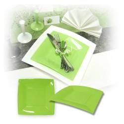 Assiette design jetable petite anis 18 cm