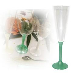 flute champagne jetable vert jade