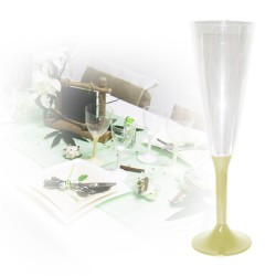 flute champagne jetable pied ivoire