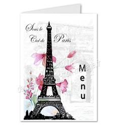 menu Paris tour Eiffel
