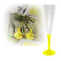 flutes champagne jetables jaune