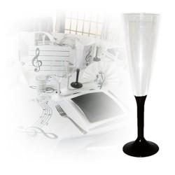 flute champagne jetable pied noir