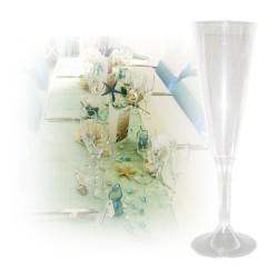 flute champagne jetable transparent