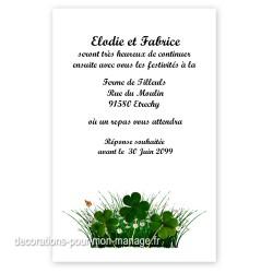 Invitation repas nature