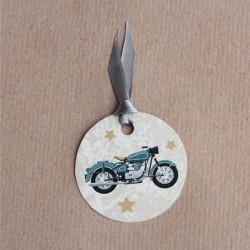 Etiquette dragées moto