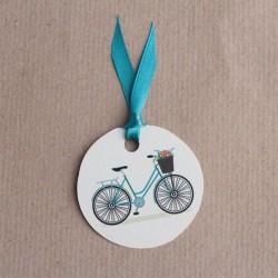 Etiquette dragées vélo
