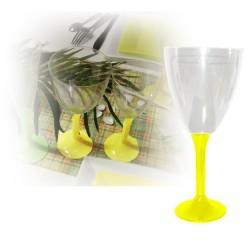 Verre eau jaune jetable
