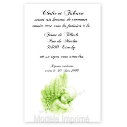 Invitation repas ange vert