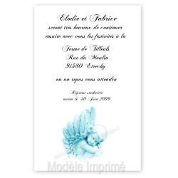 Invitation repas ange bleu