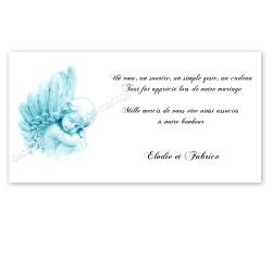 Remerciement ange bleu
