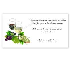 Remerciement vin