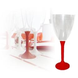 20 Verres eau rouge jetables