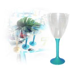 Verre eau turquoise jetable