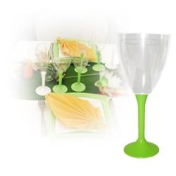 Verre eau vert anis jetable