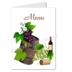 menu vin tonneau