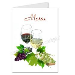 Menu verre vins