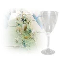Verre a eau transparent jetable