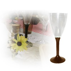Verre à vin jetable marron
