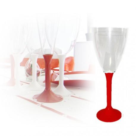 Verre à vin jetable rouge