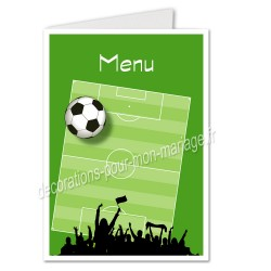 menu motif football
