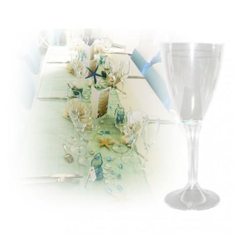Verre à vin jetable transparent