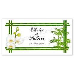 Invitation Faire-part zen bambou orchidées
