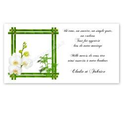 Carton remerciement fleur d'orchidée
