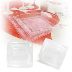 Assiette design jetable petite transparente 18 cm