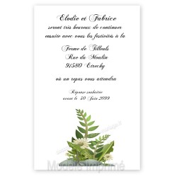 Invitation repas nature bois