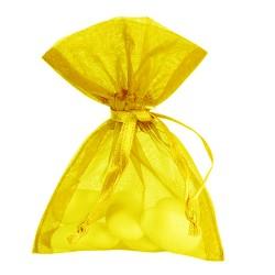 10 bourses à dragées jaune