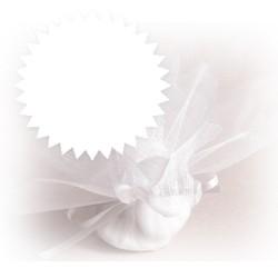 10 tulles dragées blancs