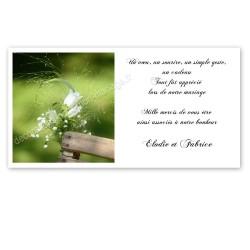 Carton remerciement nature fleurs