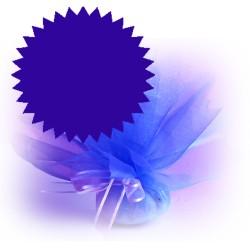 50 tulles dragées bleu roi marines