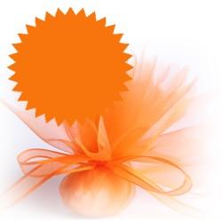 50 tulles dragées orange