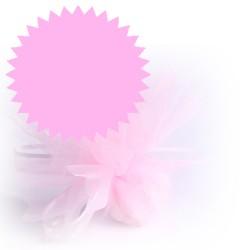 50 tulles dragées rose clair