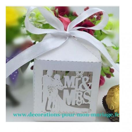 Contenant dragées mariage MR MRS