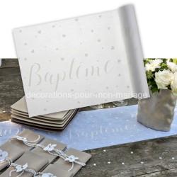 Parchemin de table blanc baptême