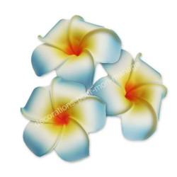 Fleur exotique bleu turquoise