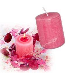 Bougie rustique rose