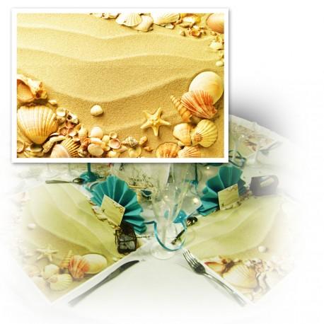 Set de table sable et coquillages