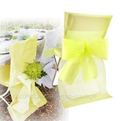Housse + noeud de chaise jaune