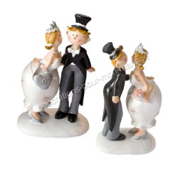 Figurine mariage rétro