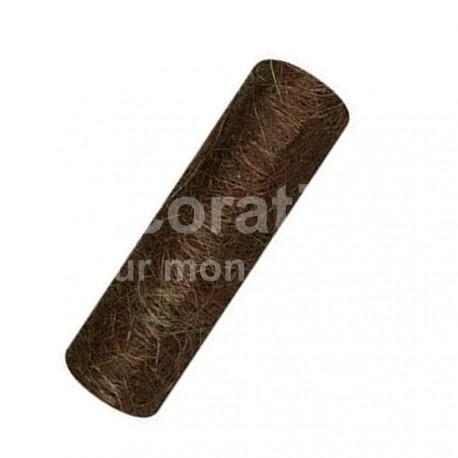 Chemin de table abaca marron