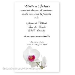 Invitation repas orchidée
