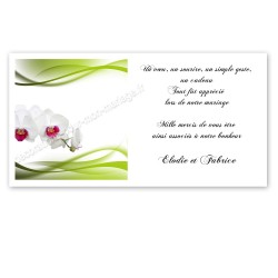 Carton remerciement zen orchidée