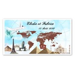 Invitation thème voyage et pays