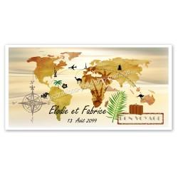 Invitation thème bon voyage